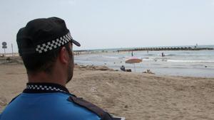 Imatge arxiu policia a la platja