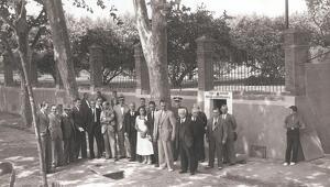 Imatge d'arxiu de la inauguració d'un dels sistemes de sanejament de la Boca de la Mina