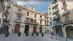 Imatge d'arxiu de la plaça del Blat de Valls, un dels llocs on es col·locaran les càmeres de vigilància
