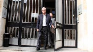 Imatge de Josep Fèlix Ballesteros en la seva entrada als jutjats pel cas Inipro