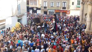 Imatge de la celebració, a la plaça Vella del Vendrell