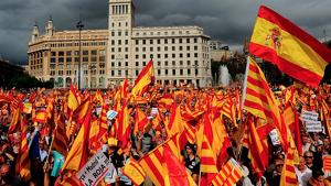 Imatge de la manifestació del passat 8 d'octubre de 2017 a Barcelona.