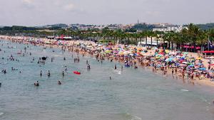 Imatge de la platja Llarga de Roda de Berà
