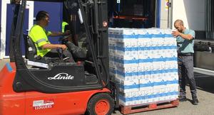 Imatge de l'entrega de llet