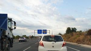 Imatge de les retencions de l'A-7 a Vila-seca en sentit sud que ha provocat l'accident de trànsit