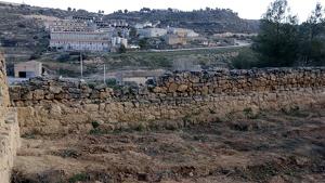 Imatge de part del cementiri vell del Soleràs on hi ha la fossa comuna més gran excavada de tot Catalunya.
