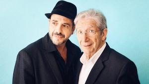 Imatge del cartell promocional del concert en el qual es pot veure a Roger Pera i a Joan Pera, pare i fill