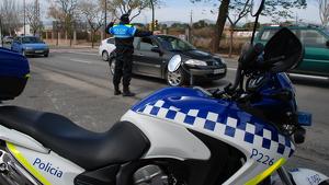 Imatge del servei de Seguretat Viària de la Guàrdia Urbana de Reus