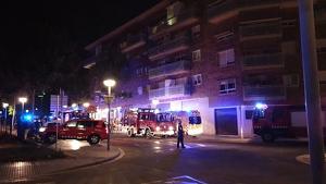 Imatge dels Bombers, el SEM i la Policia Local, al lloc dels fets