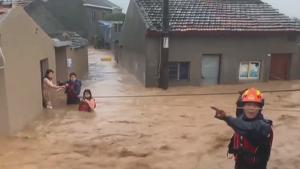 Imatge dels greus efectes del temporal a la Xina