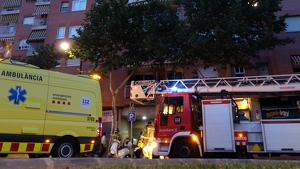 Imatge dels serveis d'emergència a la Riera d'Aragó