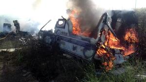 Incendi en un pàrquing de caravanes de Vila.sacra