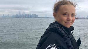 La joven activista ya ha llegado a Nueva York después de 2 semanas de travesía oceánica en velero