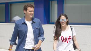 La parella va fer la seva primera aparició pública a la sortida de l'hospital