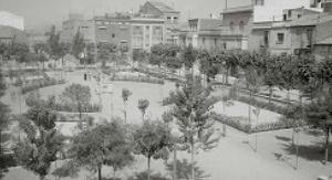 La plaça del Progrés de Terrassa els anys 60 del segle XX