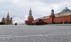 La Plaça Roja de Moscou, amb la catedral de Sant Basili i el Kremlin
