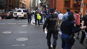 La Policia de Sidney acordona la zona tras detener al atacante