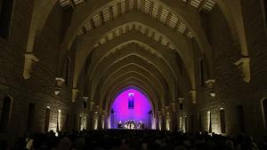 L'Antic Dormitori dels Monjos de Poblet, amb 750 espectadors durant el concert inaugural del VII Festival de Música Antiga.