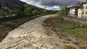 Las lluvias de las últimas horas rellenan los ríos aragoneses