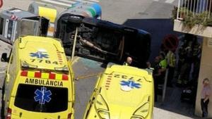 Les dues ocupants del cotxe han resultat ferides