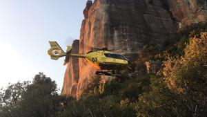 L'helicòpter va activar-se en l'operatiu de salvament.
