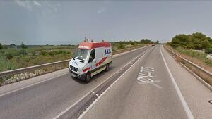Lloc de l'accident en la CV-725 en Dénia