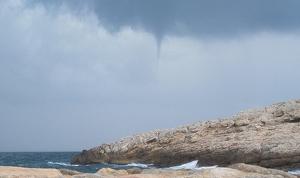 Mànega marina al Cap Salou captada aquest dimarts, 27 d'agost.