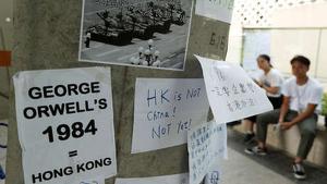 Mensajes protesta de estudiantes manifestantes