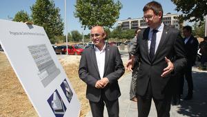 Òscar Peris i Carles Mundó durant la presentació del projecte del CPO l'any 2016 a Tarragona.