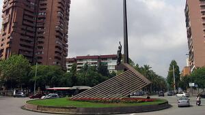 Plaça de la República de Barcelona, al barri de Sant Andreu