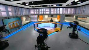 Plató Telenotícies TV3.