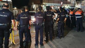 Policía herido durante las fiestas de Collado Mediano