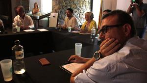 representants del Consell Comarcal del Pallars Sobirà en la sessió extraordinària per debatre una moció de censura contra Gerard Sabarich