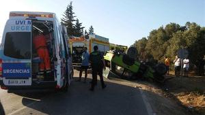 Rescate del hombre atapado en la carretera del Marquesado.