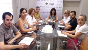 Reunió de treball de l'equip de Govern de Tàrrega.