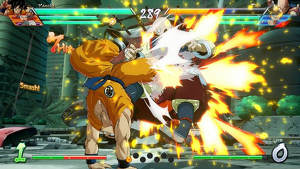 Secuencia de combate en 'Dragon Ball Fighter Z'