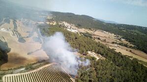 Setze dotacions terrestres i cinc d'aèries dels Bombers treballen en l'extinció d'un incendi de vegetació forestal a la Torre de Claramunt