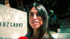 Sofía Suescun a la salida de los juzgados