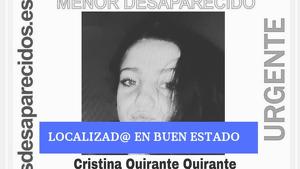 Troben a Cristina Quirante, desapareguda fa 15 dies en Torrent