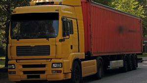 Un camió en una imatge d'arxiu