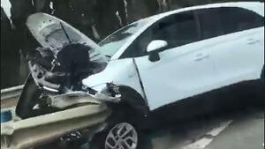 Un vehicle s'ha accidentat a la carretera C-31 a Cubelles