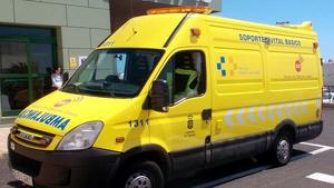 Una ambulancia de Santa Cruz de Tenerife