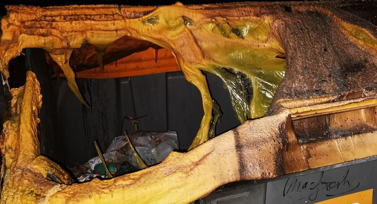 Cremen diversos contenidors de brossa a Segur de Calafell