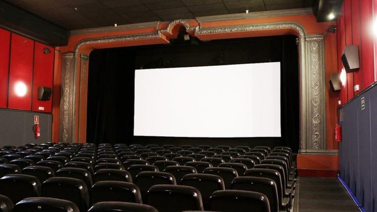 Interior del cinema Maldà a Barcelona