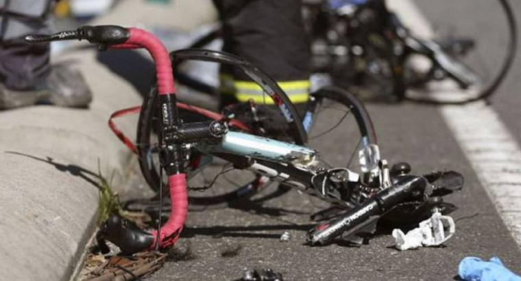 Imagen de archivo de un accidente de bicicleta.