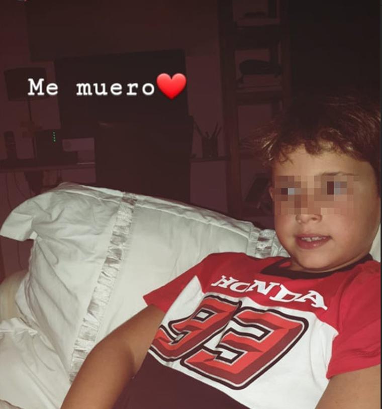Lucía Rivera publica una fotografia del seu germà vestit com Marc Márquez
