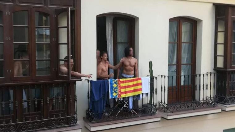 Un moment de la baralla en Màlaga