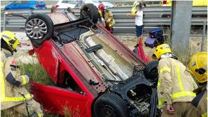 Accident a la N-340 a Vilafranca del Penedès