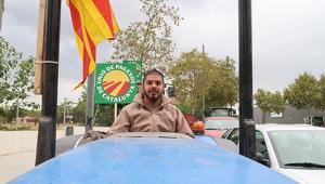 Albert Fortuny és un dels participants de la manifestació d'Unió de Pagesos