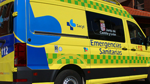 Ambulancia del Sacyl de Castilla y León.